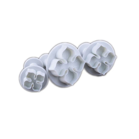 3pcs Hydrangea Shaped Sugarcraft Fondant Cake Biscuit Plungers Cutters Molds in Different Sizes