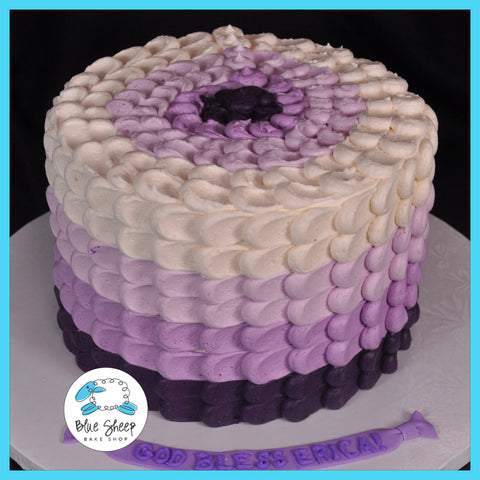 Ombre Buttercream Petal Cake Blue Sheep Bake Shop