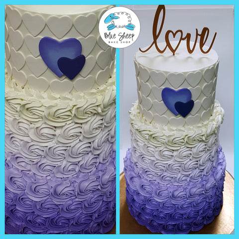 rosette buttercream wedding cake nj