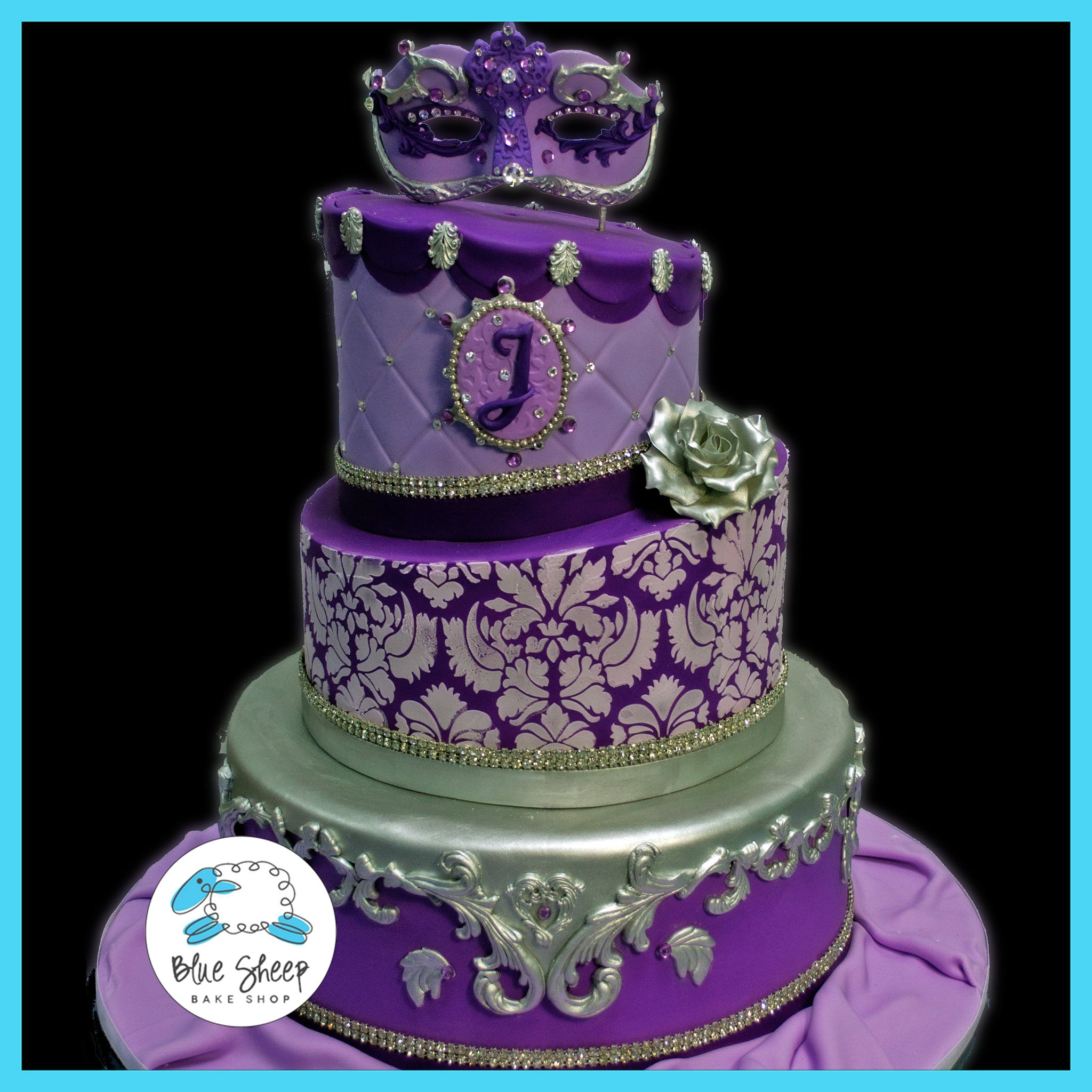 Purple Lavender Quinceanera Birthday Cake Blue Sheep Bake Shop