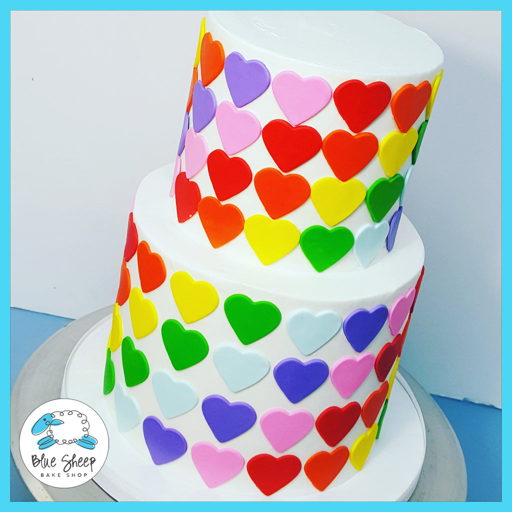rainbow heart birthday cake nj