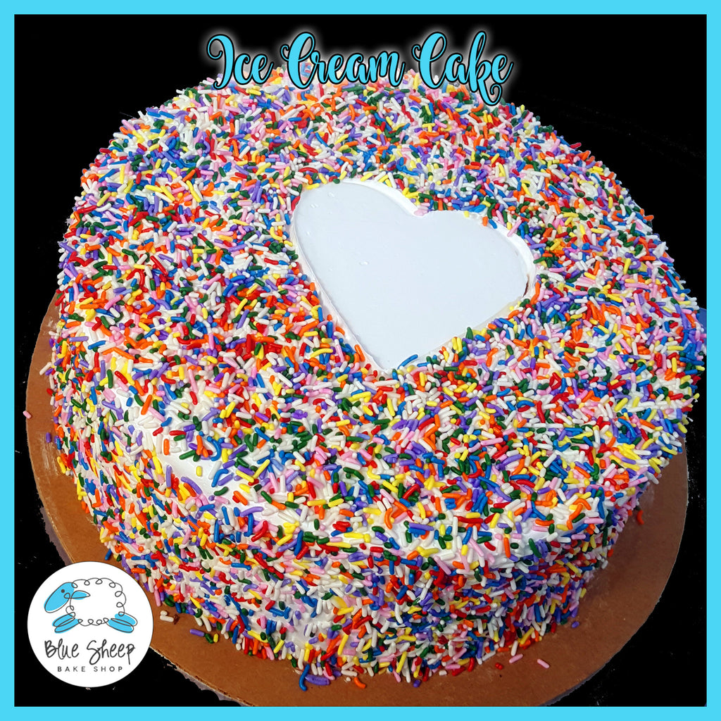 rainbow sprinkles ice cream cake nj