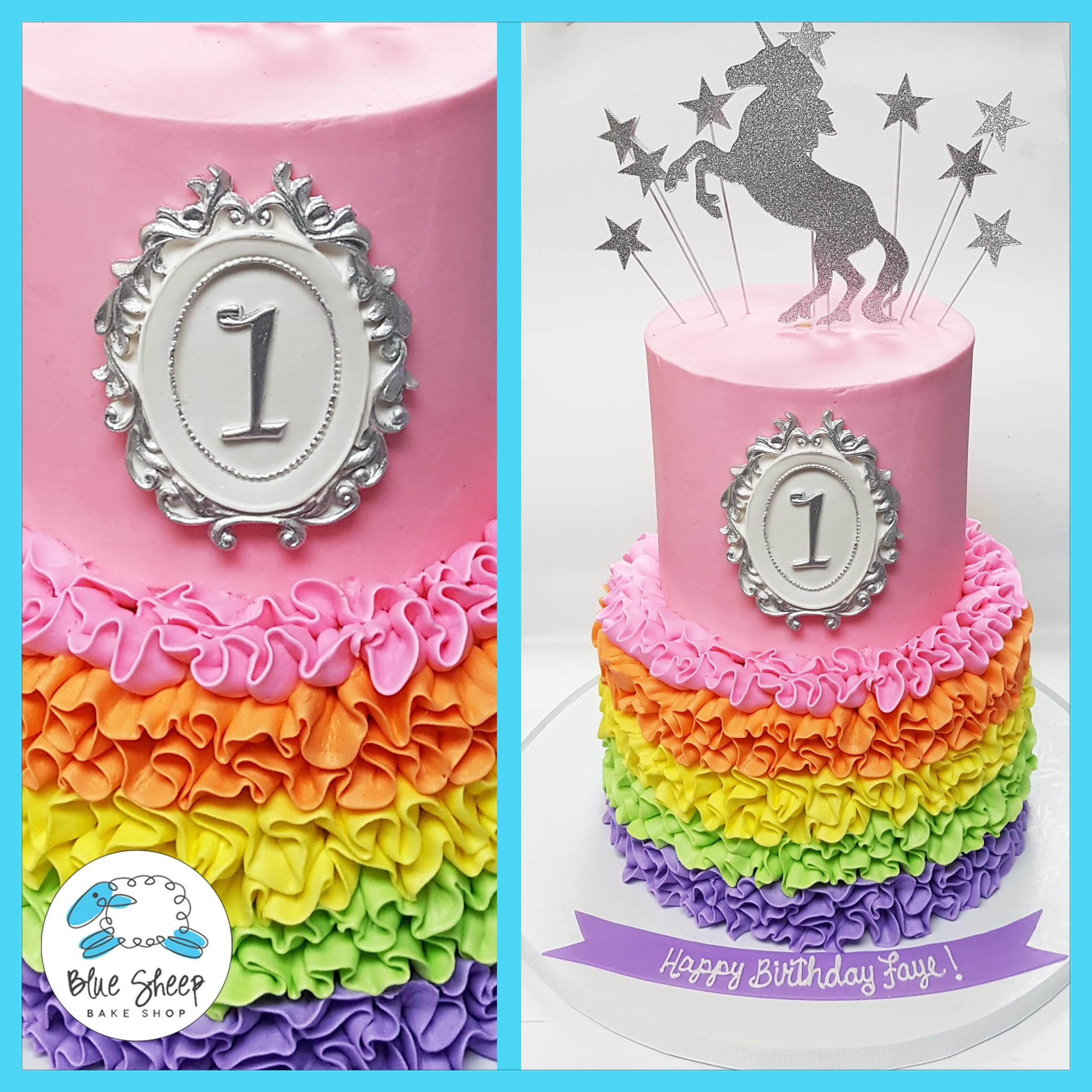 Ruffles Rainbows And Unicorns Birthday Cake Nj