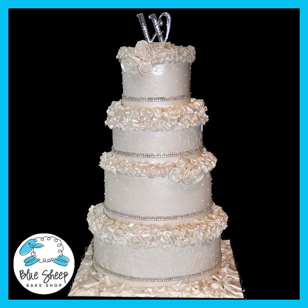ruffle wedding cake nj