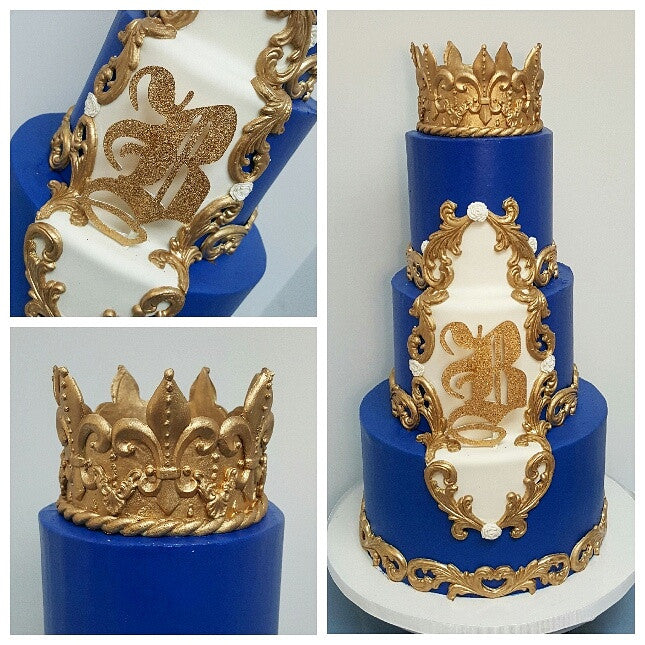 Royal Prince 1st Birthday Cake NJ Blue Sheep Bake Shop