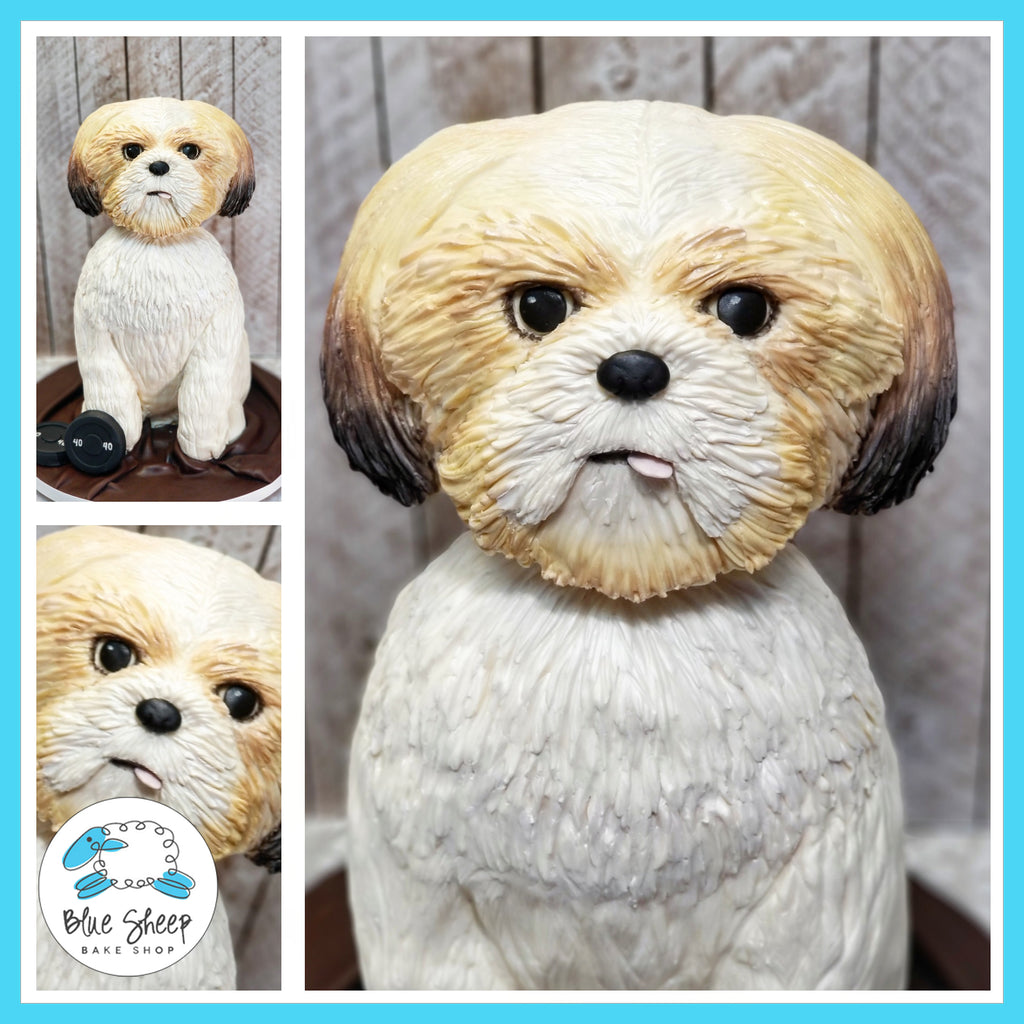 Sculpted Shih Tzu Birthday Cake NJ