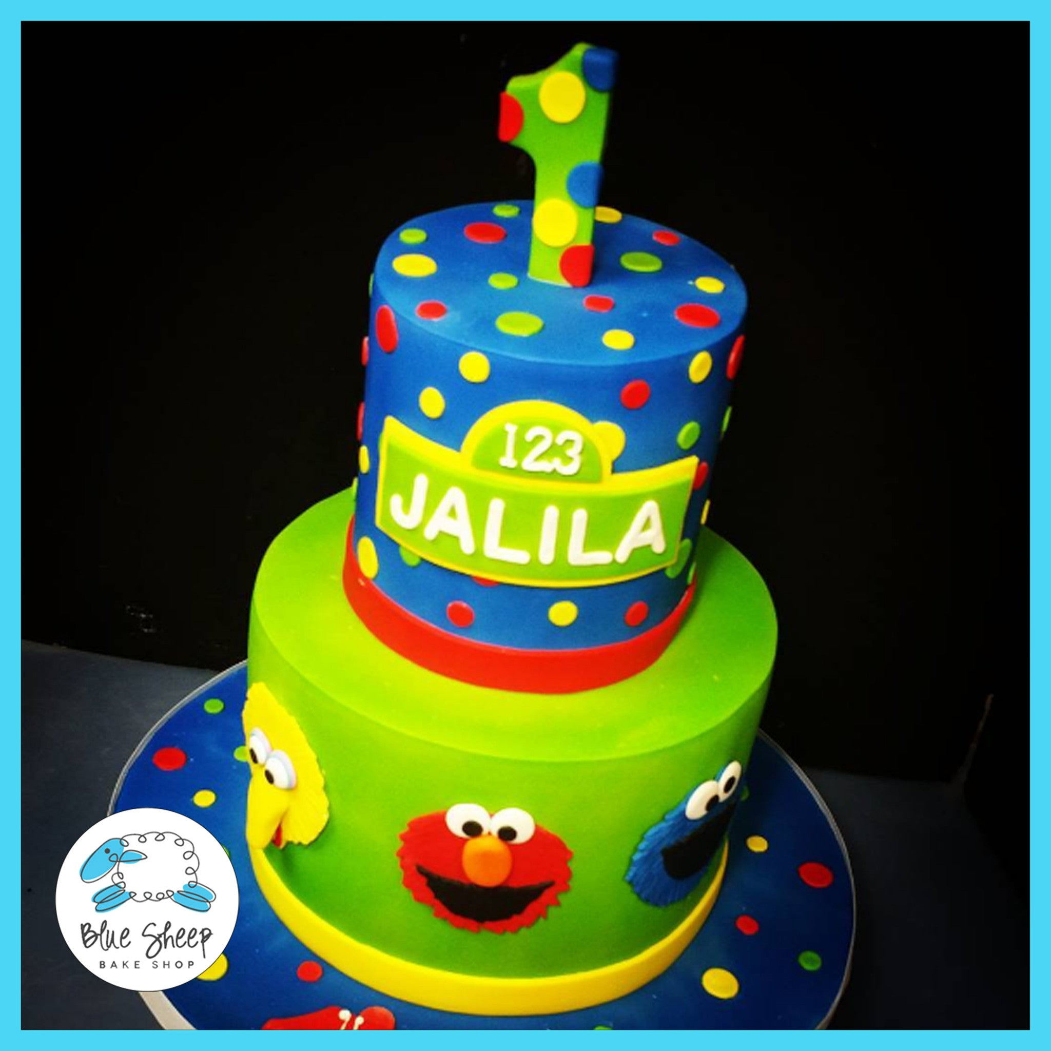 Jalilas Sesame Street Cake Blue Sheep Bake Shop