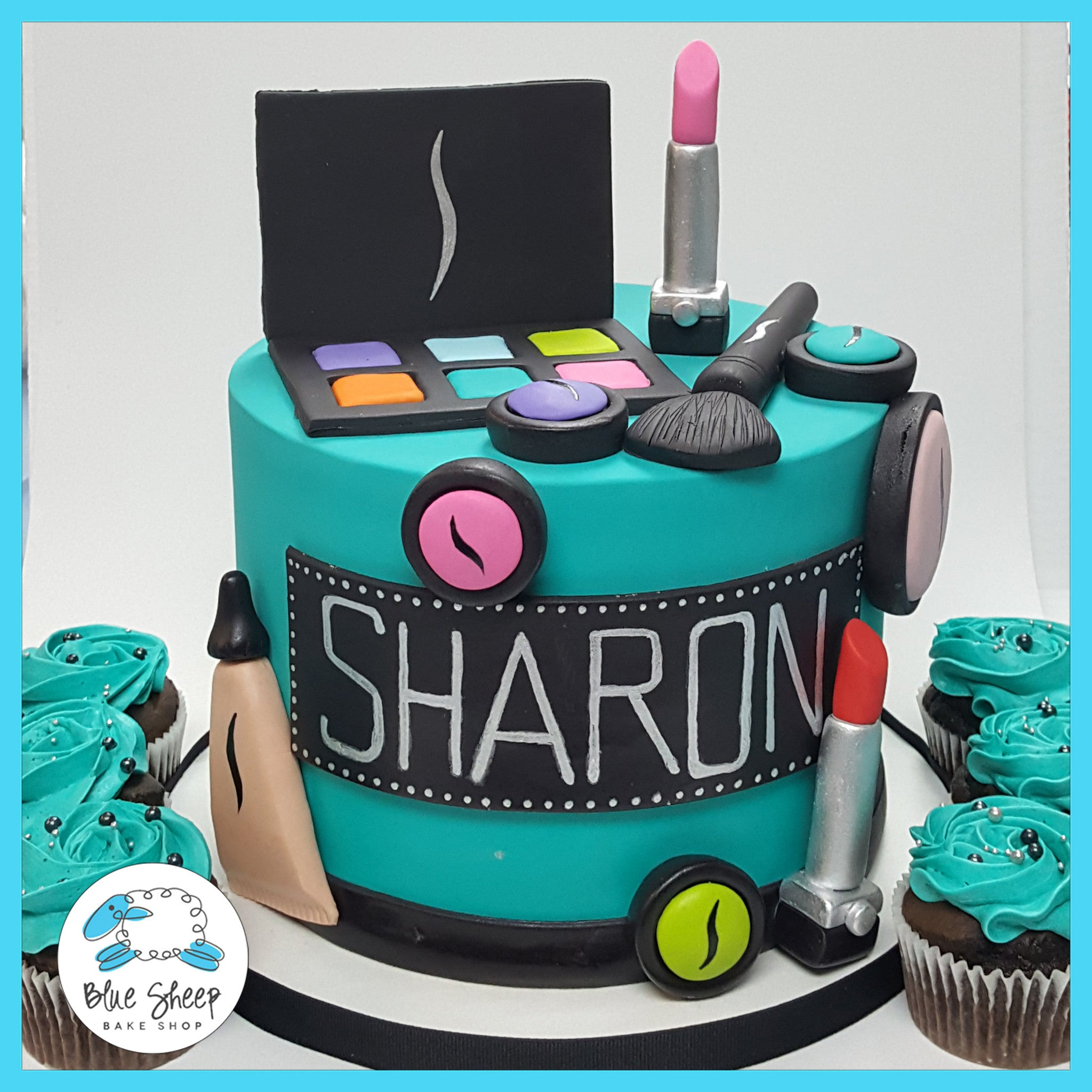 Sharons Sephora Makeup Birthday Cake Blue Sheep Bake Shop