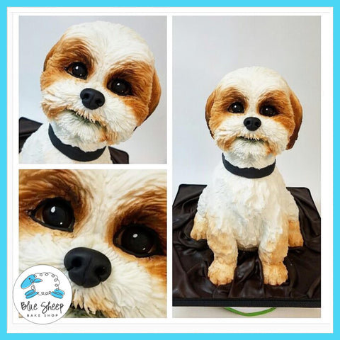 shih tzu sculpted cake custom grooms cake nj
