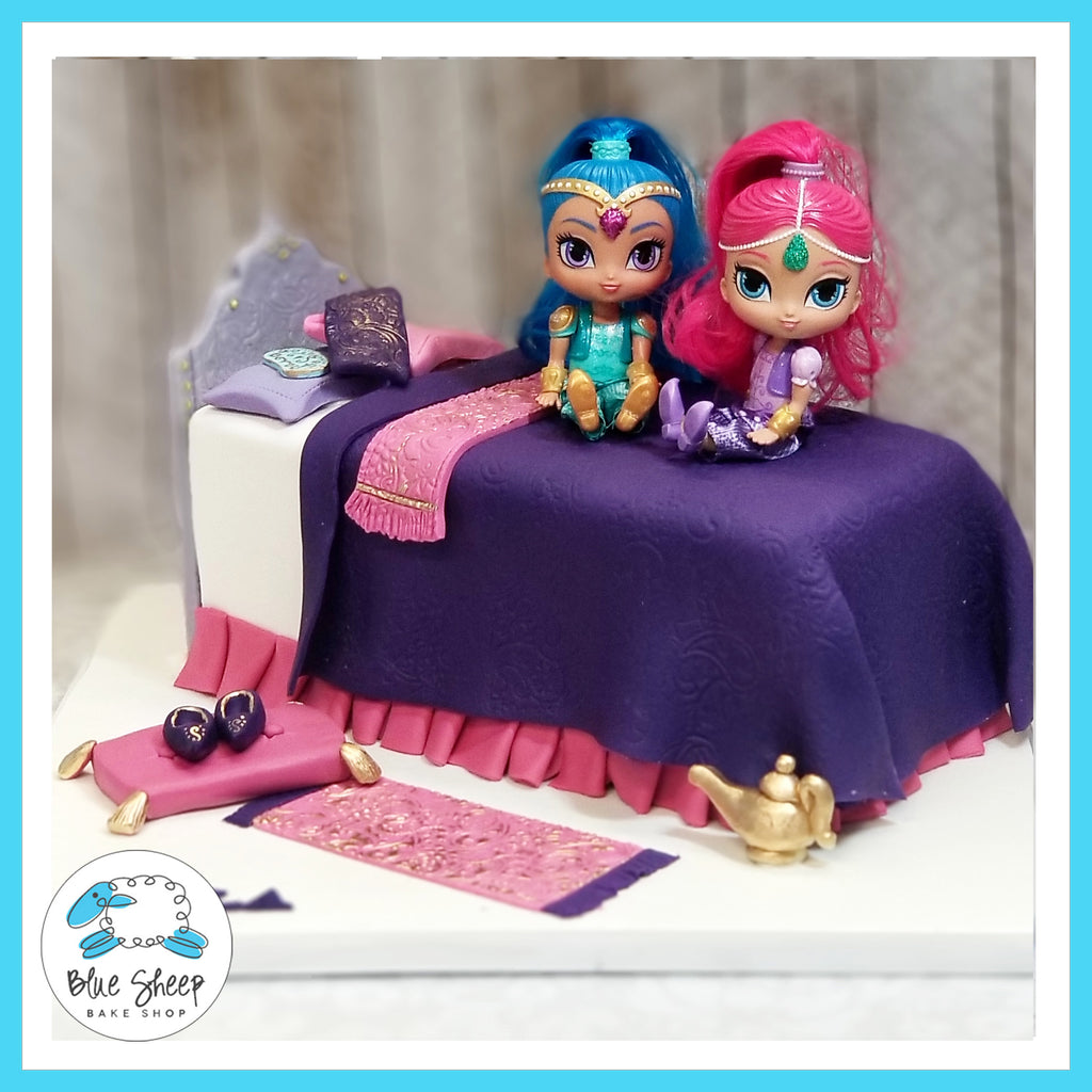 Shimmer and Shine Birthday Cake - NJ Custom Cakes