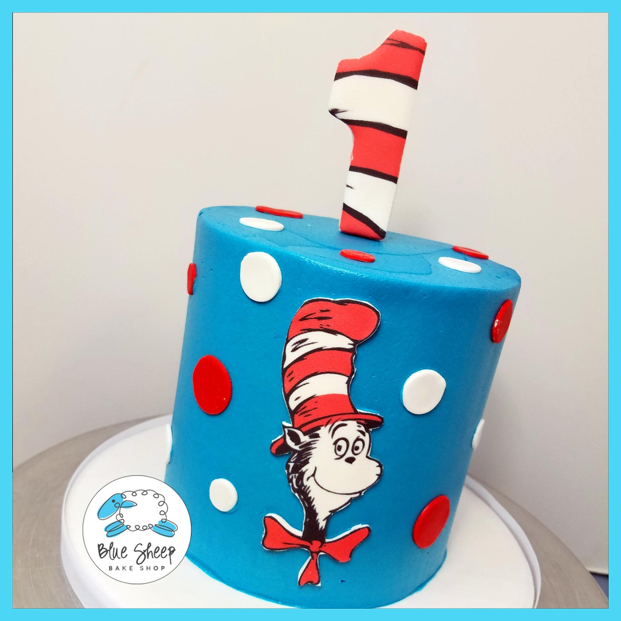 Fabulous Cat In The Hat Smash Cake Blue Sheep Bake Shop Funny Birthday Cards Online Alyptdamsfinfo