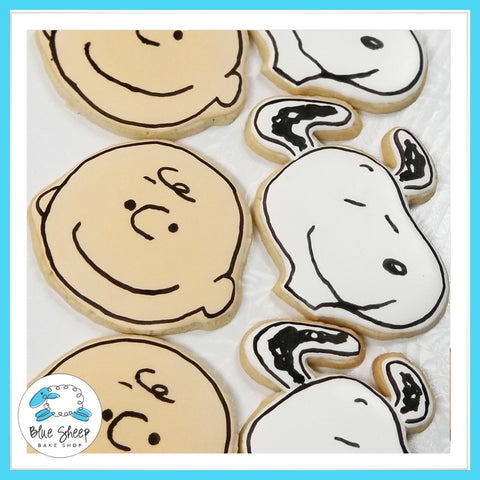 charlie brown and snoopy sugar cookie favors nj
