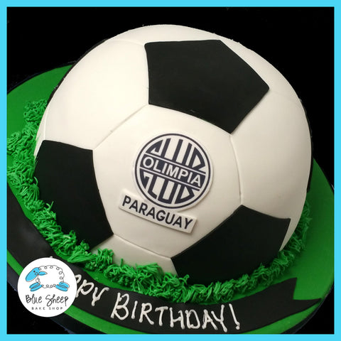 soccer ball birthday cake nj