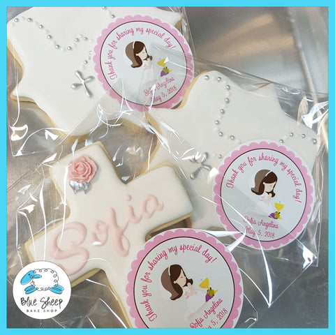 custom cross cookie favors nj