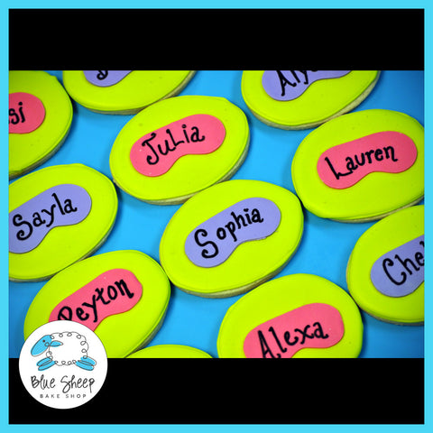custom spa cookies for spa birthday party nj