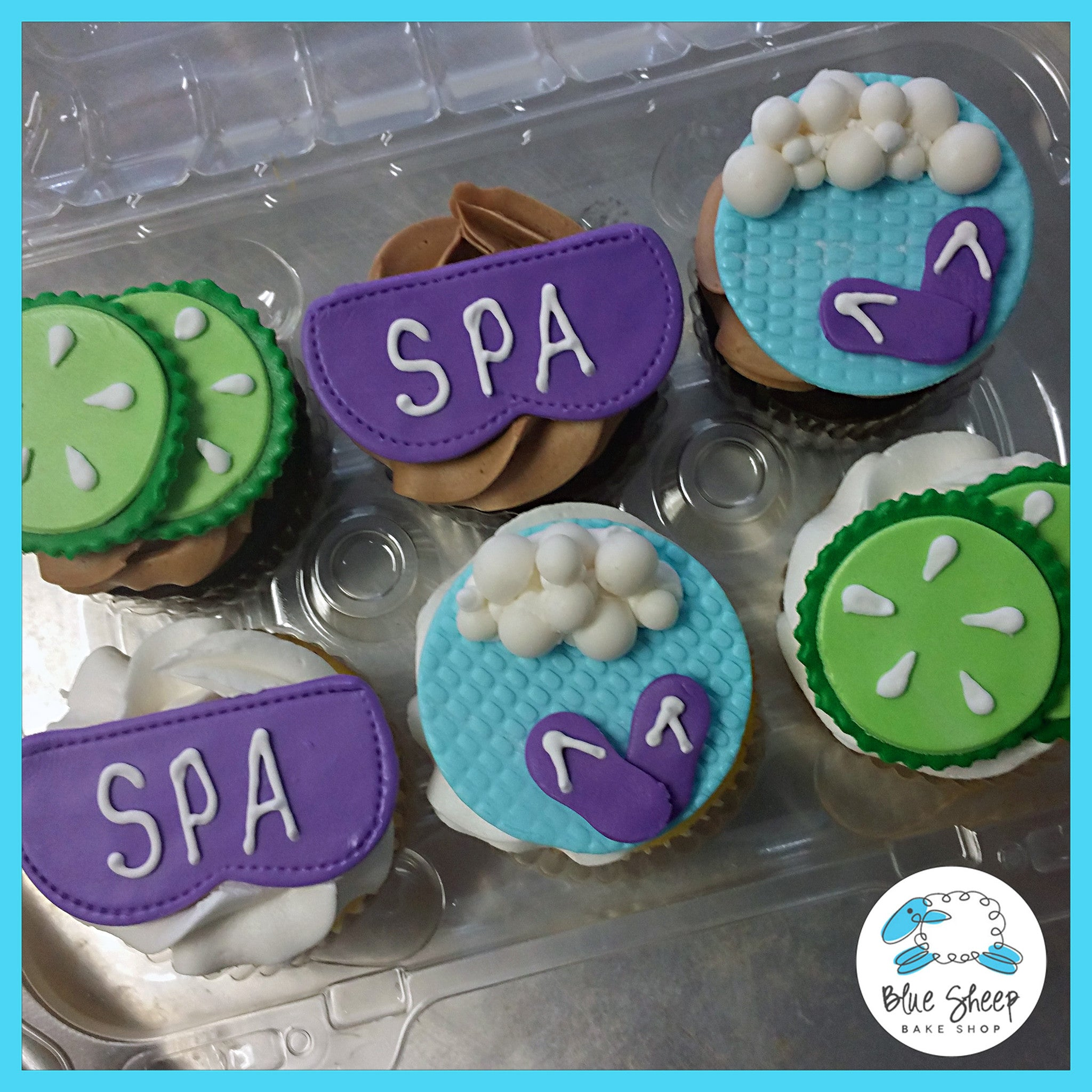Spa Cupcakes Blue Sheep Bake Shop