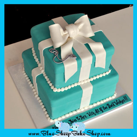 Tiered Tiffany & Co. Inspired Bridal Shower Cake