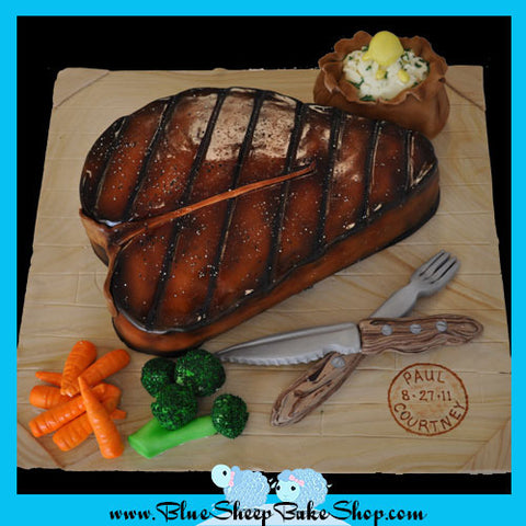 Steak Grooms Cake