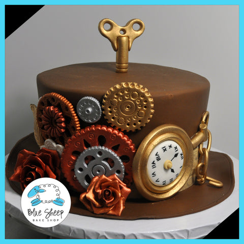 Steampunk Hat Baby Shower Cake