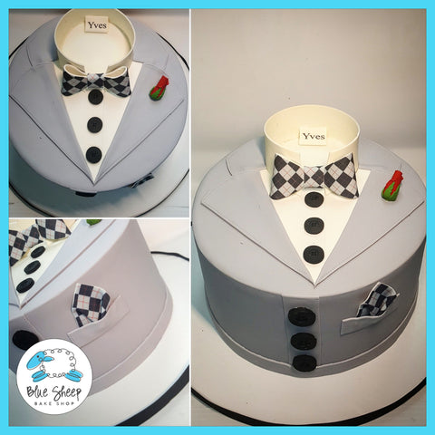 suit and tie cake nj