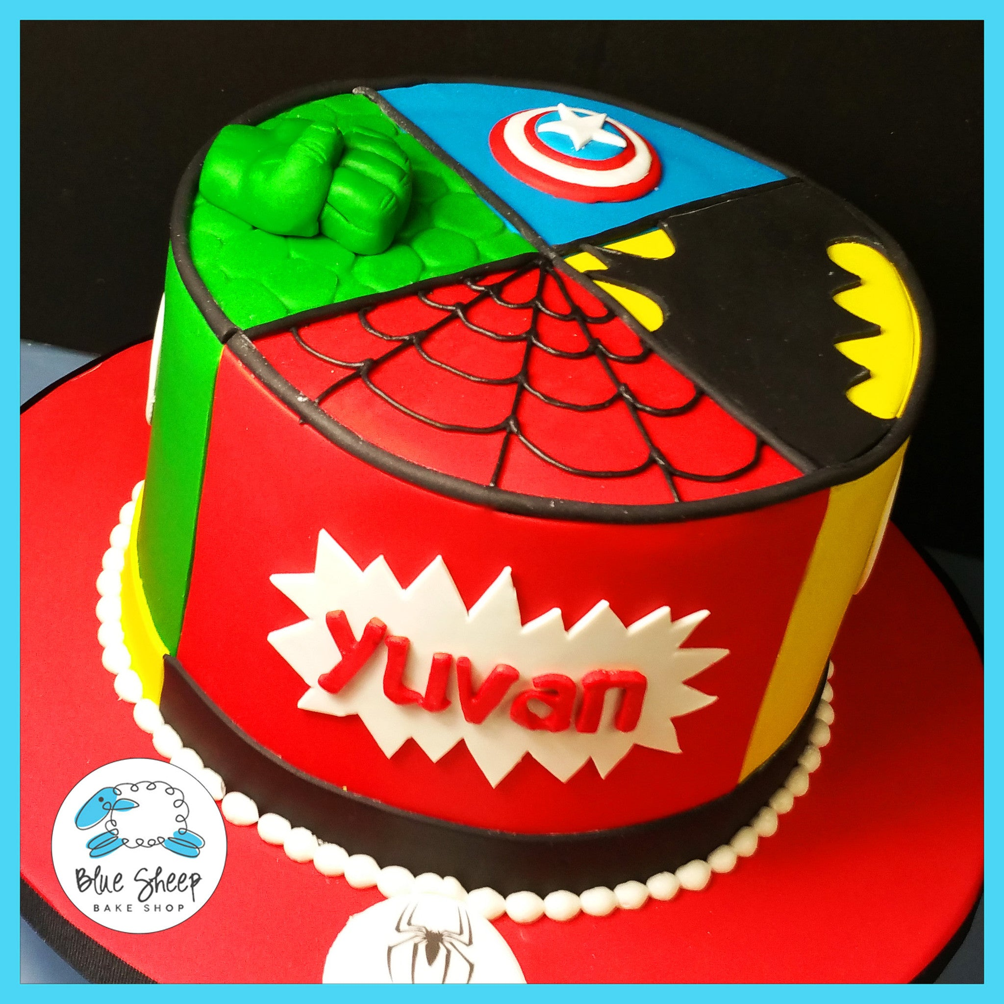 superhero birthday cake Superhero Birthday Cake | Blue Sheep Bake Shop superhero birthday cake