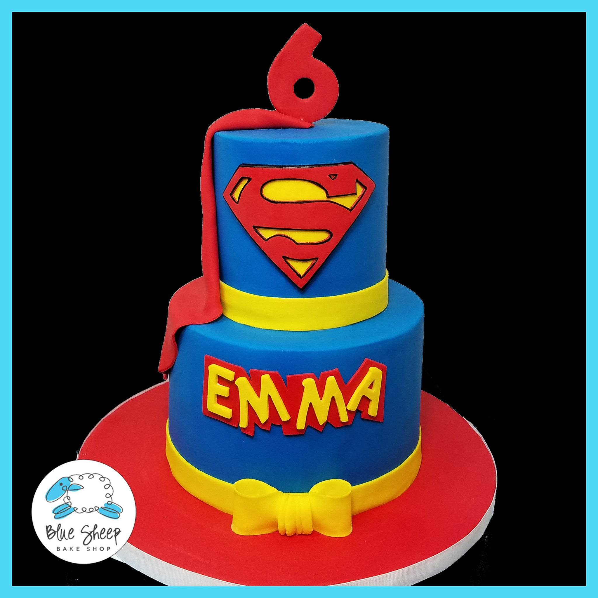 Super Man Custom Specialty Birthday Cake Nj Blue Sheep Bake Shop