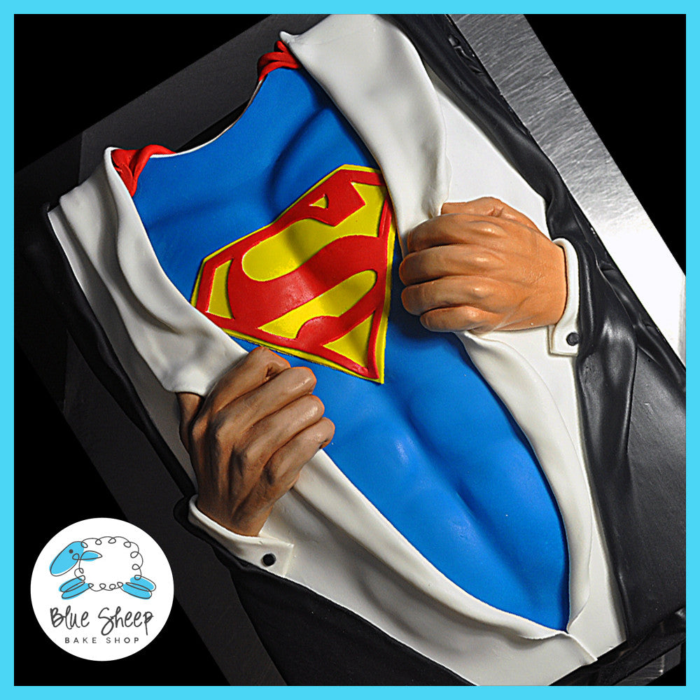 Enjoyable Superman Birthday Sheet Cake Blue Sheep Bake Shop Funny Birthday Cards Online Bapapcheapnameinfo
