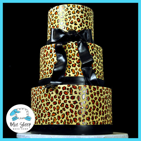 animal cheetah print sweet 16 custom cake nj