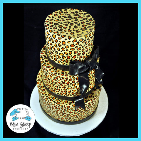 animal leopard print sweet 16 custom cake nj