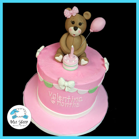Teddy Bear Smash Birthday Cake NJ