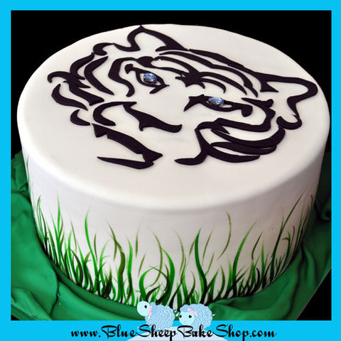 Bengal Tiger Jungle Birthday Cake