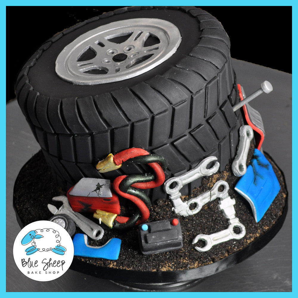 Junkyard Tire 35th Birthday Cake Custom Birthday Cakes Nj