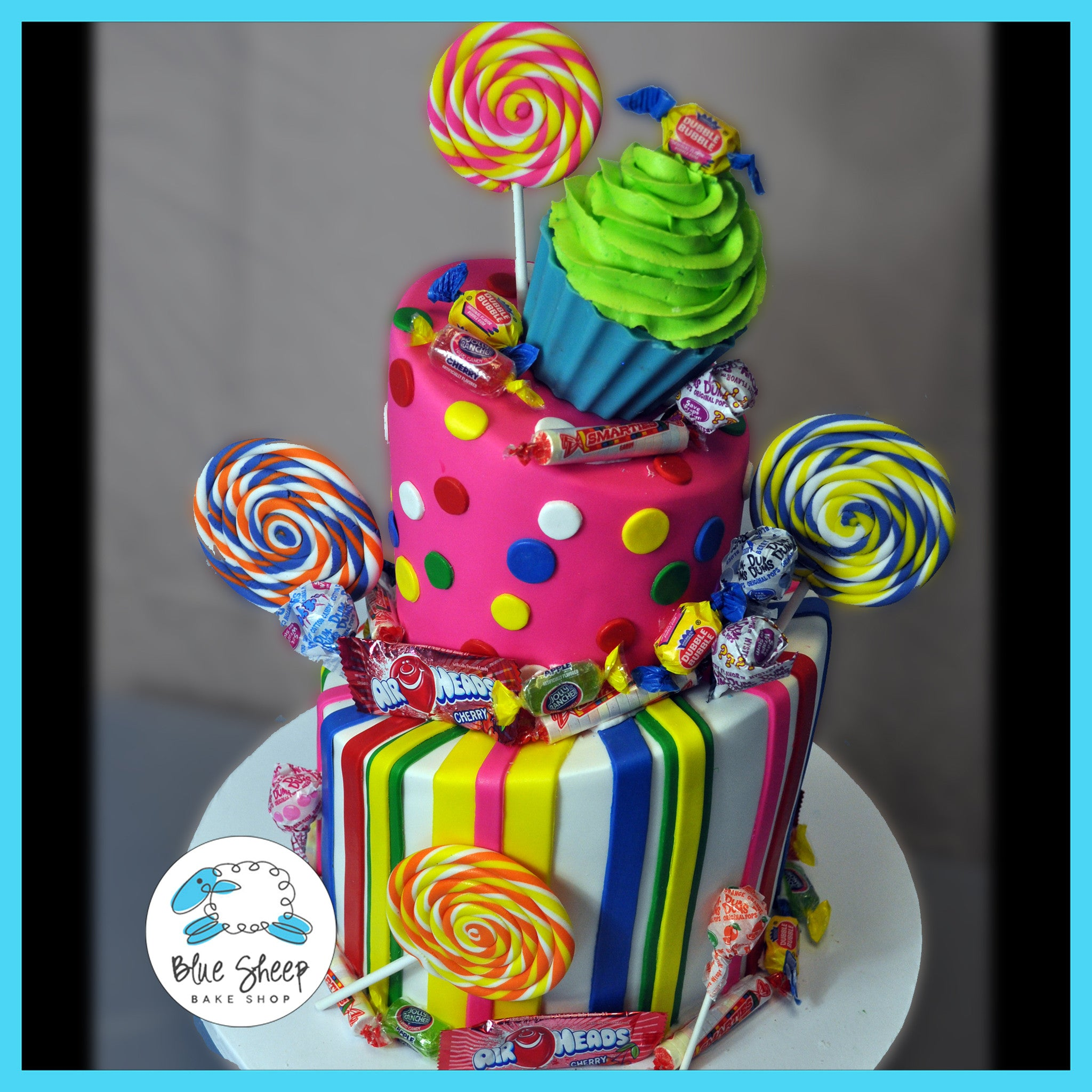 Excellent Sweet 16 Candyland Birthday Cake Blue Sheep Bake Shop Birthday Cards Printable Opercafe Filternl