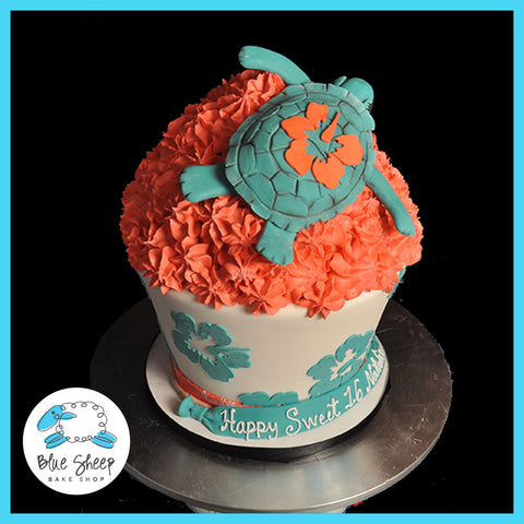 Turtle Giant Birthday Cupcake