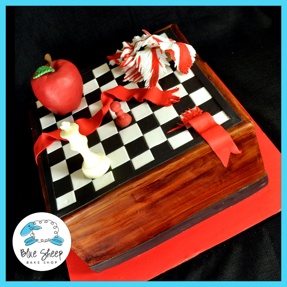 twillight saga chess board custom cake nj