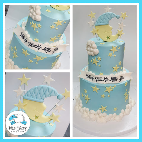 twinkle twinkle little star buttercream baby shower cake nj best cakes