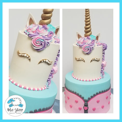 unicorn and lol doll birthday cake nj
