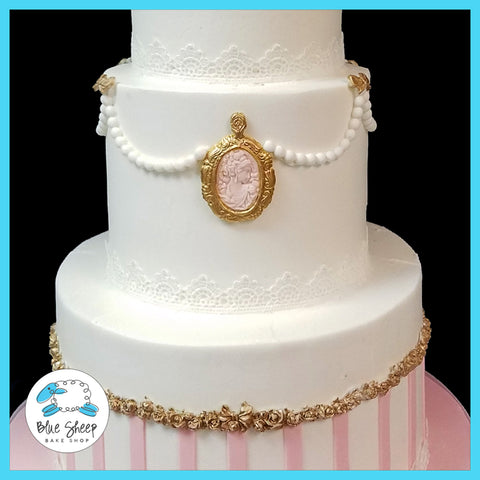 vintage bridal shower cake nj