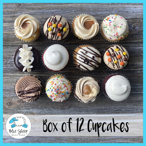 box of 12 cupcakes curbside pick up