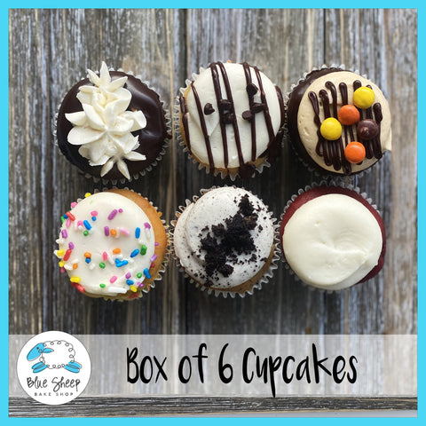 box of 6 cupcakes to go curbside nj cupcakes