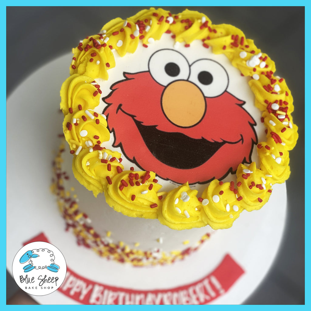 elmo to go birthday cae