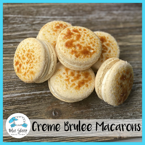 creme brulee french macarons