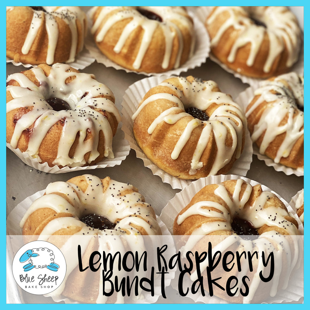 LEMON raspberry bundt cake bundtlette