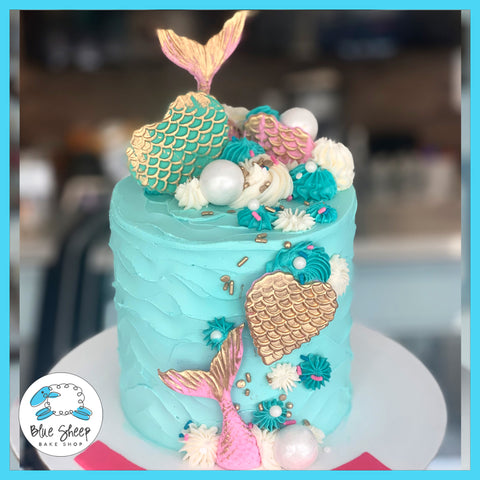 mermaid under the sea to go cake nj