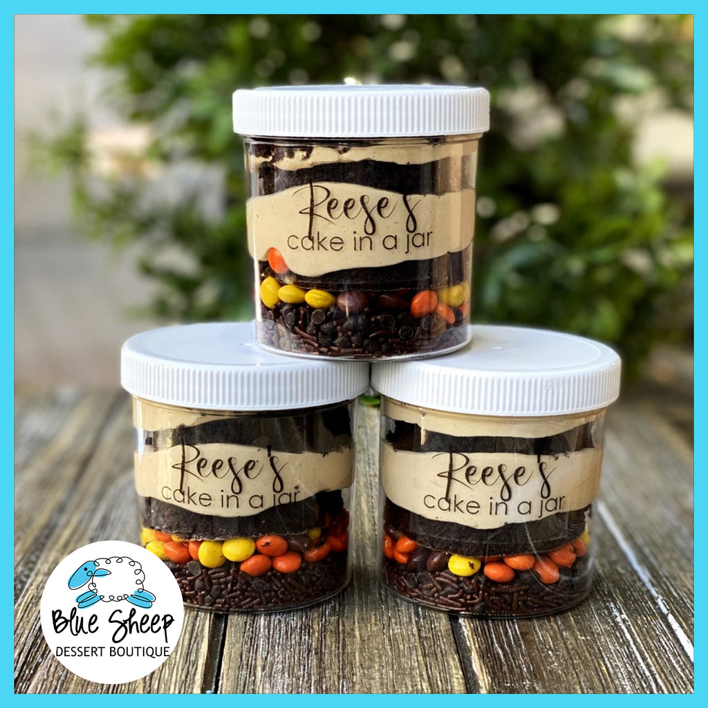 Reese's  cake in a jar party favors NJ