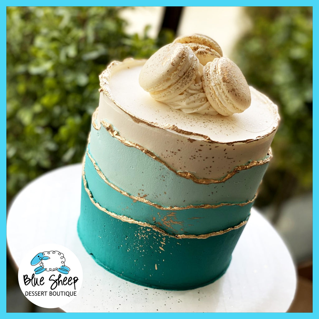 sophisticated ombre waves buttercream cake central jersey cakes