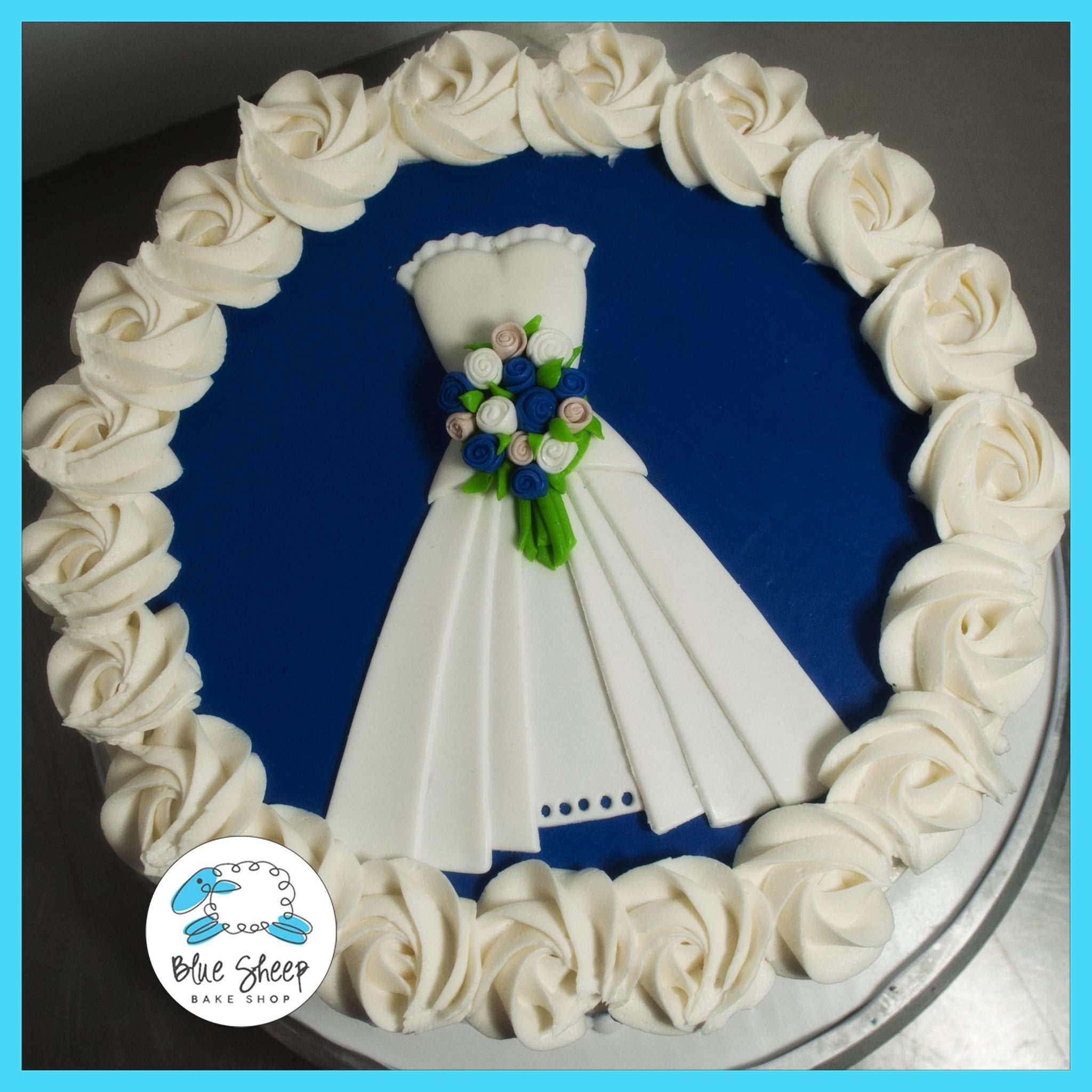 fondant wedding dress cake topper nj