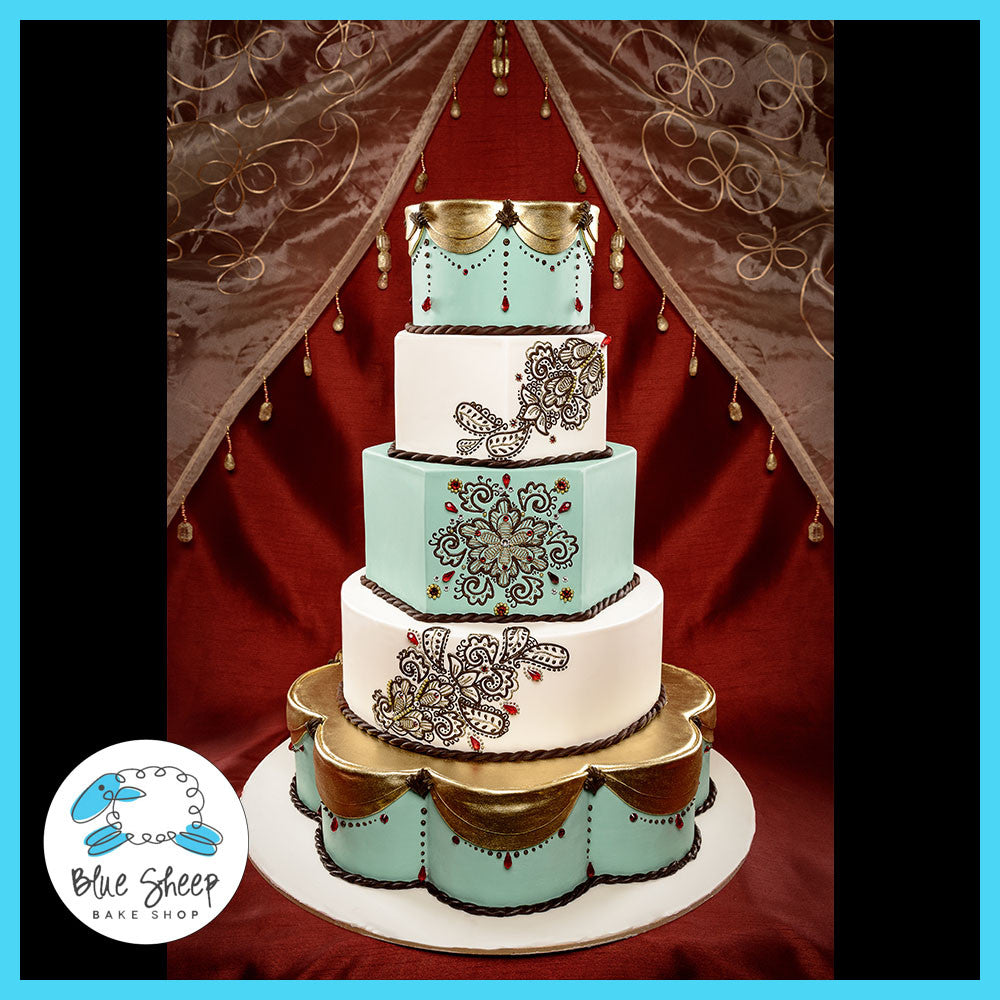 Henna Wedding Cake Blue Sheep Bake Shop