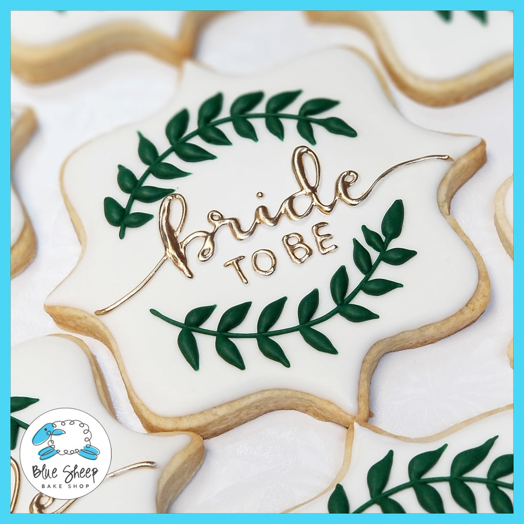 Bride to Be Custom Decorated Bridal Shower Cookies - NJ Blue Sheep Bake Shop