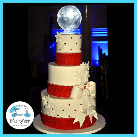 red and white wedding cake winter wedding cake christmas wedding